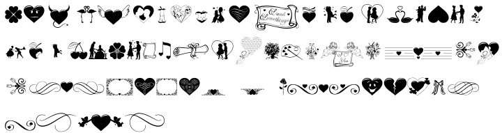 TB Valentine Font Sample