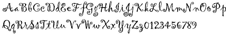 Gigi™ Font Sample