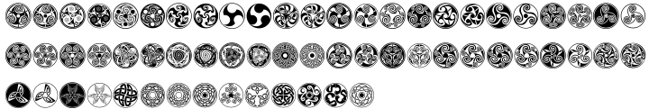 Celtic Ornaments BA Font Sample