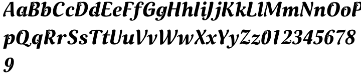 Lockon Font Sample