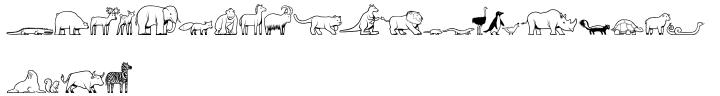 LOLO Animals™ Font Sample