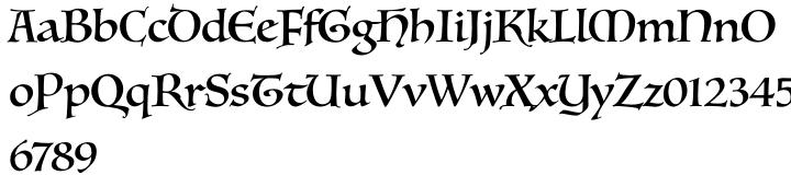 Luminari™ Font Sample