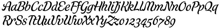 Schwung Font Sample