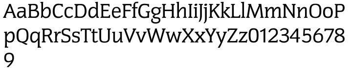 Congress Serial Font Sample