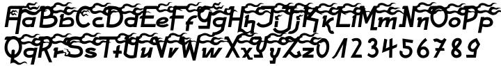 Hot Flames Font Sample