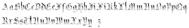 Gothic Garbage Font Sample