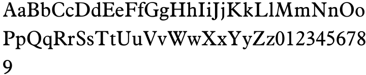 Aldine 721 Font Sample