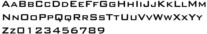 Bank Gothic Font Sample