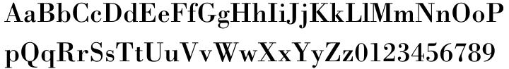 Bodoni Font Sample