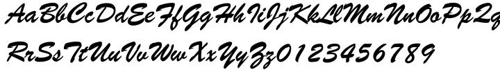 Brush Script™ Font Sample