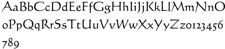 Calligraph 421 Font Sample
