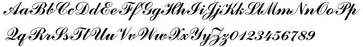 Commercial Script™ Font Sample