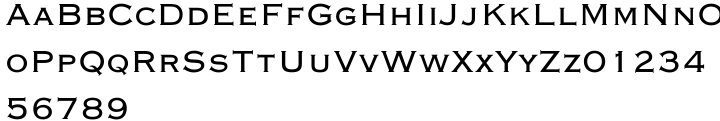 Copperplate Gothic Font Sample