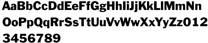 Franklin Gothic™ Font Sample