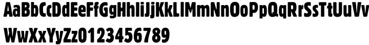 Gothic 821 Font Sample