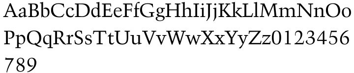 Kuenstler 480 Font Sample