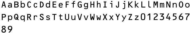 OCR-B-10 Font Sample