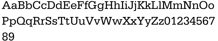 Serifa® Font Sample