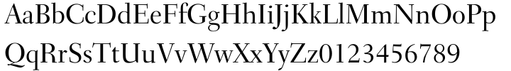 Transitional 551 Font Sample