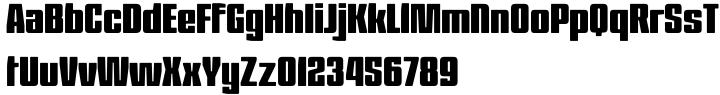 Barge Font Sample