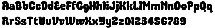 Debusen Font Sample