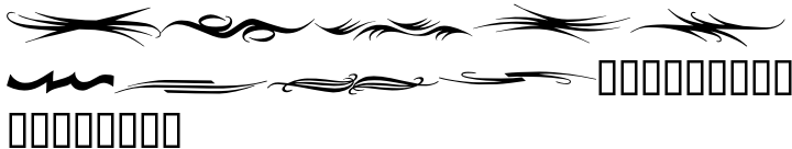 C-V Dashes Font Sample