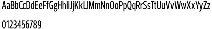Prelo Compressed Font Sample
