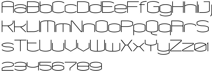 Chord Font Sample