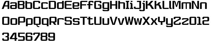 Robustik Font Sample