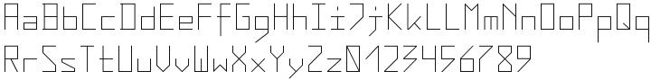 AF Zip Code Font Sample