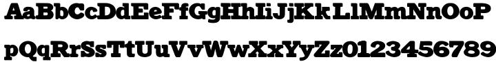 Antiqua Shaded Font Sample