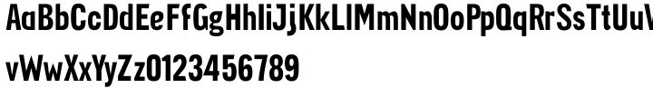 Aggregate Font Sample
