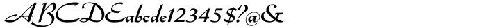 Admiral Script™ Font Sample