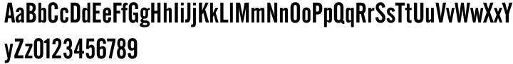 Alternate Gothic Font Sample