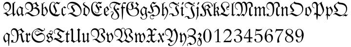 Fraktur Font Sample