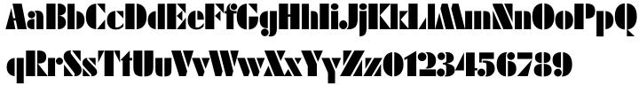 Futura Black® Font Sample