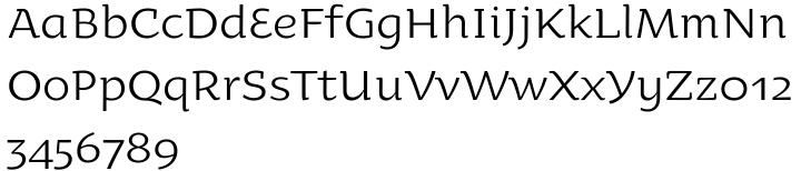 Oksana Text Alt Font Sample
