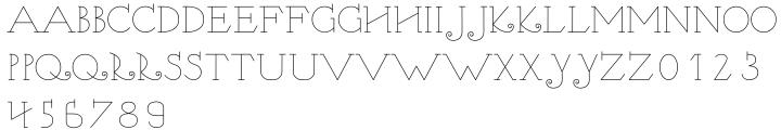 Nymphe Font Sample