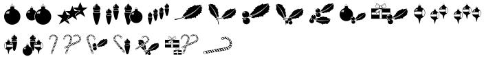 Merry Fleurons Font Sample