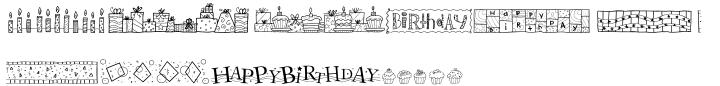 DB Borders Birthday Font Sample