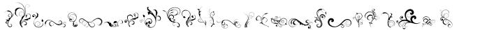DB Dainty Swirl Font Sample