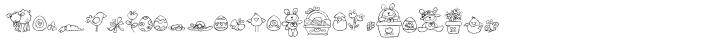 DB Easter Fun Doodles Font Sample