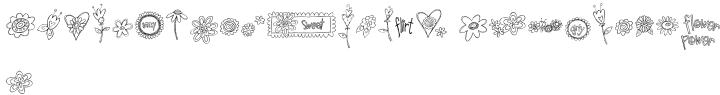 DB Girly Flowers Font Sample
