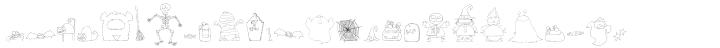 DB Spooky Doodles Font Sample