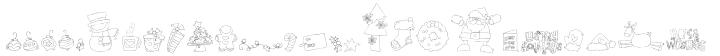 DB Christmas Fun Doodles Font Sample