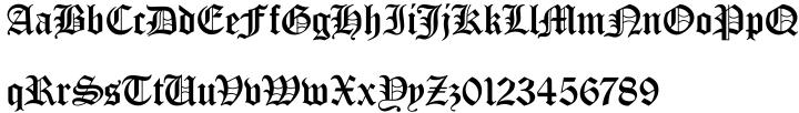 Old English™ Font Sample