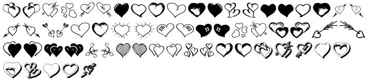 Valentine's Fleurons Font Sample