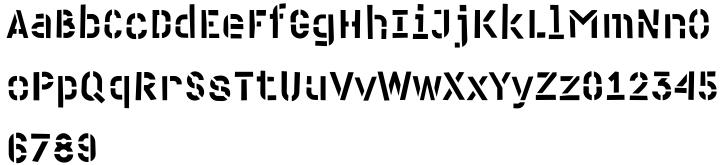Cliche Font Sample