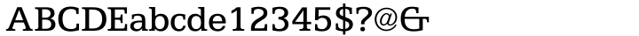 Egyptian 505 Font Sample