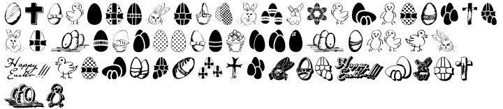 Easter Fleurons™ Font Sample
